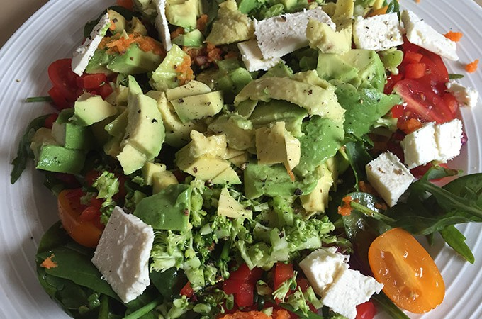 Avocado Feta and Vegetable Salad