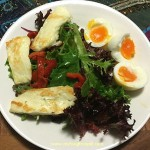 Golden Haloumi Salad