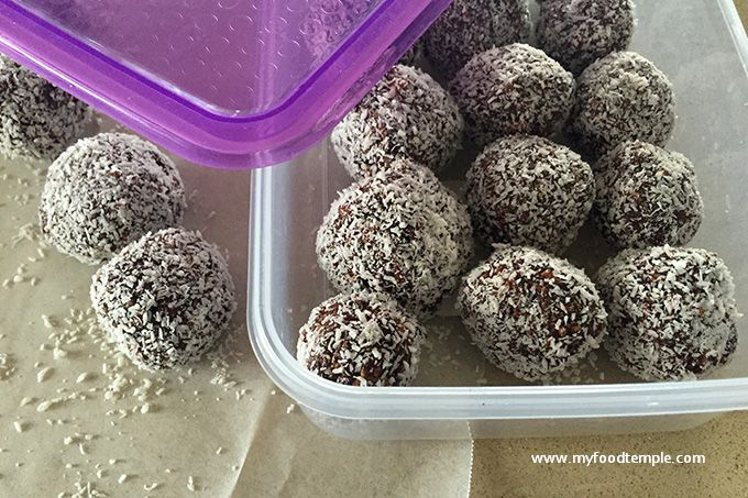 Chocolate Coconut Bliss Balls