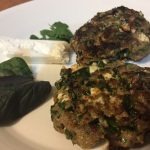 Beef Spinach and Fetta Rissoles