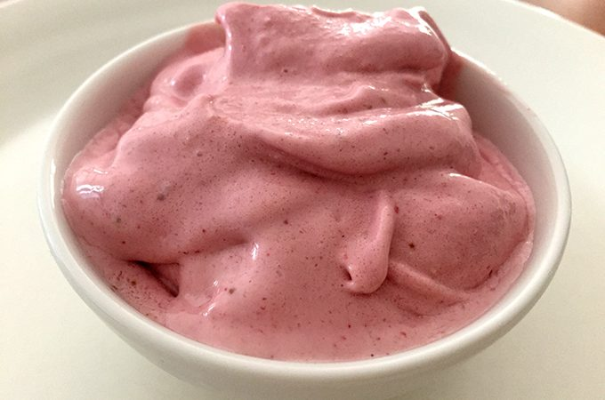 Creamy Strawberry Dairy Free Ice Cream