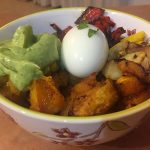 Veggie Mexican Bowl with Pumpkin and Squash